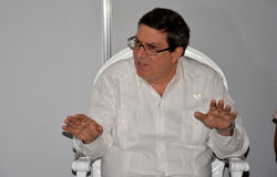 Minister of Foreign Affairs of Cuba, Bruno Eduardo Rodriguez Parrilla Royalty Free Stock Photo