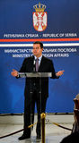 Minister of Foreign Affairs of Republic of Serbia Ivica Dacic. Belgrade, Serbia - November 1, 2014: Minister of Foreign Affairs of Republic of Serbia Ivica Dacic stock images
