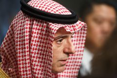 Minister of Foreign Affairs of Saudi Arabia Adel al-Jubeir Stock Images