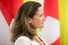 Minister of International Trade of Canada Chrystia Freeland stock image