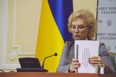 Minister Lyudmyla Denisova. KIEV, UKRAINE - 10 November 2014: Minister of Social Policy of Ukraine Lyudmyla Denisova Stock Photos