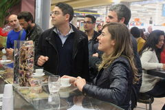 Minister Maria Elena Boschi, coffee break Stock Photo