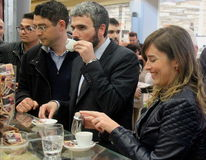 Minister Maria Elena Boschi, coffee break Stock Photos