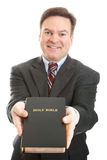 Minister or Missionary with Bible Royalty Free Stock Photography