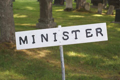Minister Parking Sign stockfoto