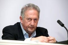 Minister rozwój wsi Kostas Skandalidis i jedzenie Zdjęcia Stock