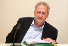 The Minister of Rural Development and Food Kostas Skandalidis Royalty Free Stock Photography