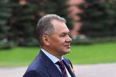 Minister S.Shoigu at ceremony of wreath laying Stock Images