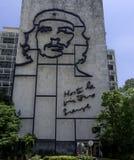 Minister Spraw Wewnętrznych z stalowym pomnikiem Kubański bohater Che Guevara - rewolucja kwadrat, Kuba obraz royalty free