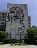 Minister Spraw Wewnętrznych z stalowym pomnikiem Kubański bohater Che Guevara - rewolucja kwadrat, Kuba fotografia stock