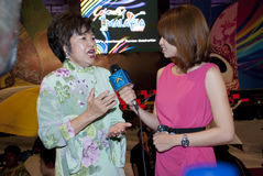 Minister of Tourism Malaysia. KUALA LUMPUR, MALAYSIA-MAY 21: Dato' Dr. Ng Yen Yen, Minister of Tourism Malaysia, interviewed by a journalist during the Royalty Free Stock Photo