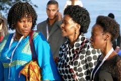 Minister van Buitenlandse zaken van Zuid-Afrika Maite Emily Nkoana-Mashabane Stock Afbeeldingen