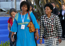 Minister van Buitenlandse zaken van Zuid-Afrika Maite Emily Nkoana-Mashabane Stock Afbeelding