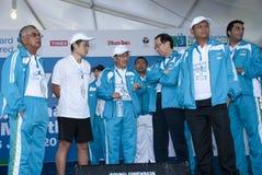 Minister van de Jeugd en Sporten M op KL Marathon 2011 Stock Afbeelding