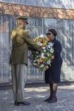 Minister van Defensie mapisa-Nqakula bij Gedenkteken Royalty-vrije Stock Foto