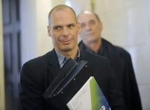 Minister van Financiën Yanis Varoufakis Stock Fotografie