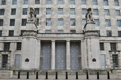 Ministerie van Defensie Londen Whitehall Stock Foto's