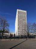 Ministerie van justitie van Russische Federatie (het wordt geschreven in Rus) Zhitnaya St 14, Moskou stock afbeeldingen