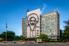Ministerie van Mededelingen in het Plein DE La Revolucion - Havana, Cuba royalty-vrije stock foto