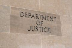 Ministerie van Rechtvaardigheid Sign stock foto's