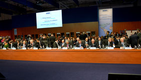 23. ministerieller Rat OSZE in Hamburg Lizenzfreie Stockfotos