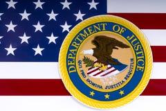 Ministerio de Justicia de Estados Unidos Imágenes de archivo libres de regalías