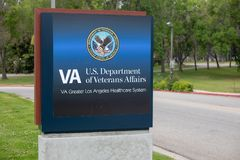 Ministerium für Veteranenangelegenheitens-Zeichen VA US lizenzfreies stockbild