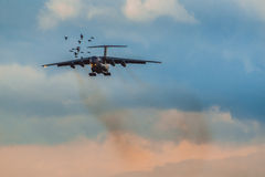 Ministerium Ilushin Il-76 TD von Notsituationen der Russischen Föderation Lizenzfreies Stockfoto