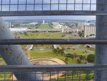 Ministeriumesplanade in BrasÃlia, Brasilien - Nationalkongress lizenzfreie stockbilder