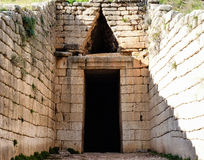 Ministero del Tesoro del atreus ai mycenae, Grecia immagini stock