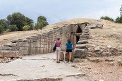 Ministero del Tesoro della tomba di Atreus di Agamemnon Micene Grecia fotografie stock