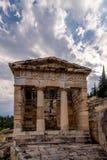 Ministero del Tesoro di Atene a Delfi Immagine Stock