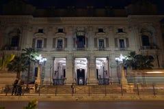 Ministero dell'istruzione facade at night in Rome Stock Photo