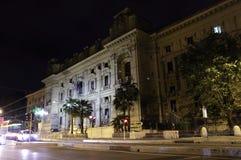 Ministero dell'istruzione facade at night in Rome Stock Images