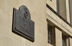 Ministero della difesa britannico Immagine Stock Libera da Diritti