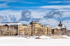 Ministero delle finanze a Dresda nell'inverno Immagine Stock Libera da Diritti