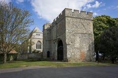 Ministra opactwo i Gatehouse muzeum Obrazy Royalty Free