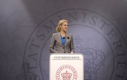Ministre danois de Ms.Helle Thorning-Scmidt premier Photos libres de droits