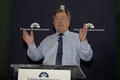 MINISTRE DE CLAUS HJORT FREDERIKSEN _DANISH DES FINANCES Image libre de droits