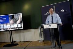MINISTRE DE CLAUS HJORT FREDERIKSEN _DANISH DES FINANCES Photographie stock libre de droits