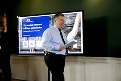 MINISTRE DE CLAUS HJORT FREDERIKSEN _DANISH DES FINANCES Photo stock
