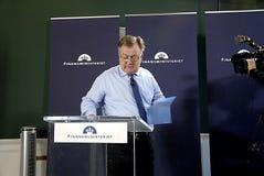 MINISTRE DE CLAUS HJORT FREDERIKSEN _DANISH DES FINANCES Photos libres de droits
