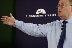 MINISTRE DE CLAUS HJORT FREDERIKSEN _DANISH DES FINANCES Photo libre de droits