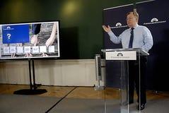 MINISTRE DE CLAUS HJORT FREDERIKSEN _DANISH DES FINANCES Photos stock