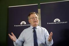 MINISTRE DE CLAUS HJORT FREDERIKSEN _DANISH DES FINANCES Image stock