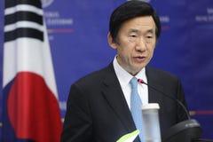 Ministre des affaires étrangères Yun Byung-Se de Sud-Coréen Photo stock