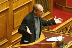 Ministre des finances Yanis Varoufakis de la Grèce Images libres de droits