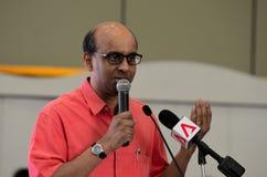 Ministre du conseil de Singapour des finances et ministre ministre Tharman Shanmugaratnam Image libre de droits