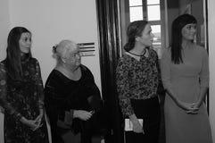 4 MINISTRES FÉMININS ENTRETIEN AU MEDIA NATIONAL Photographie stock libre de droits