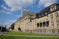 Ministries building in Düsseldorf. Building on the bank of the Rhine in Düsseldorf Stock Photo